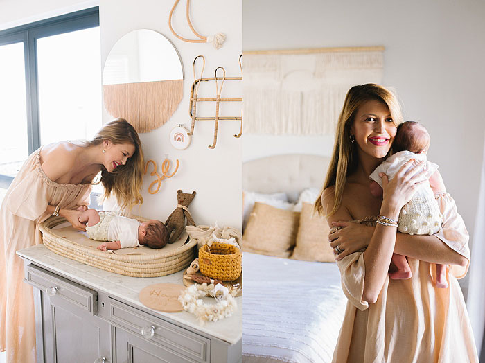 Cape Town lifestyle at home newborn photoshoot