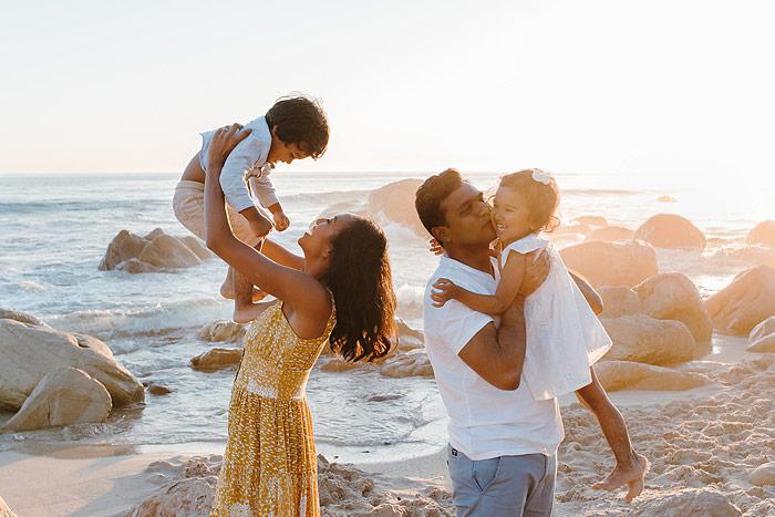 family beach shoot cape town